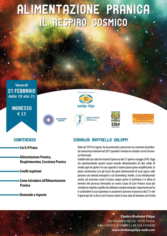 Conferenza - Alimentazione Pranica - Il Respiro Cosmico